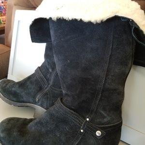 UGG Women's black suede boots